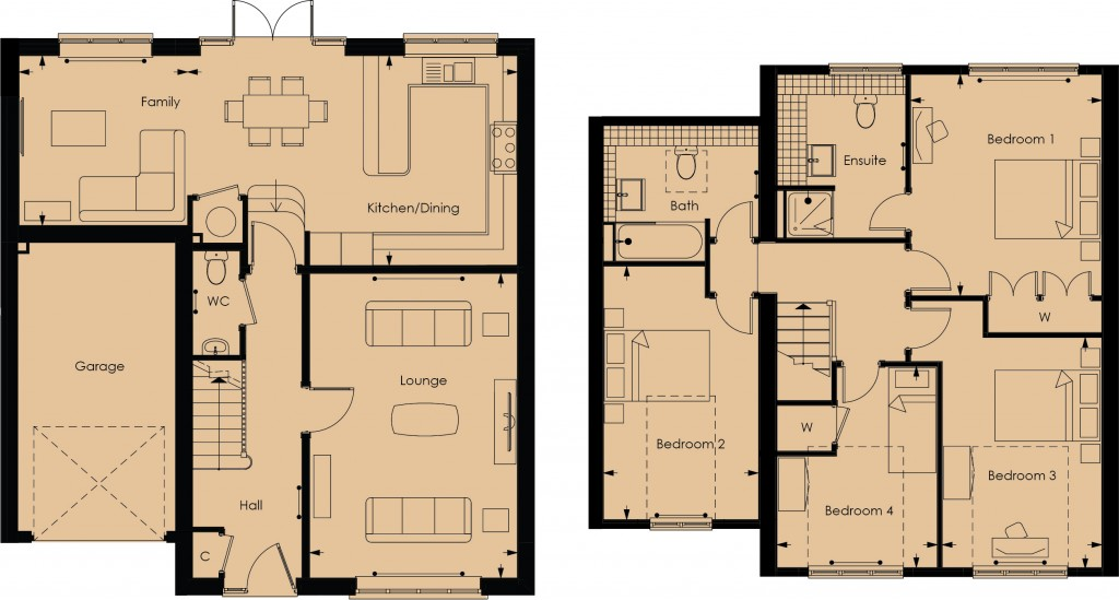 Floorplans For Birch Grove, Potters Bar
